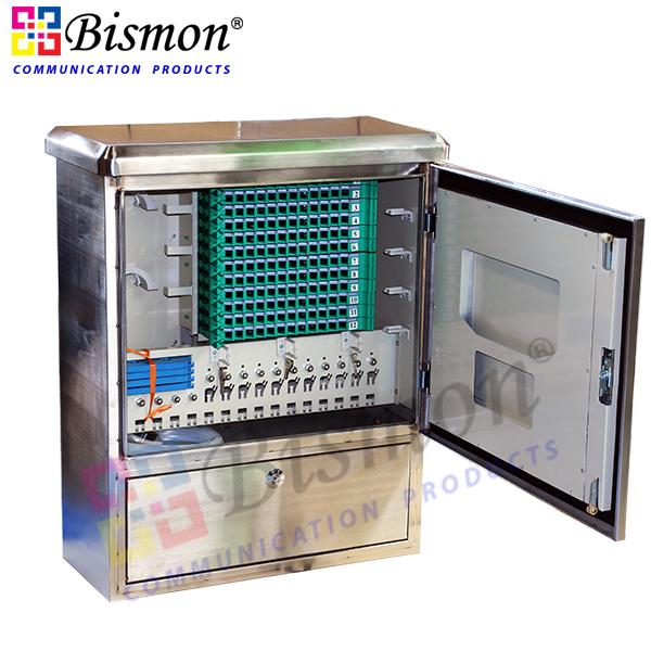 Stanless Steel) 144 Core Cabinet Outdoor Fiber optic | Bismon