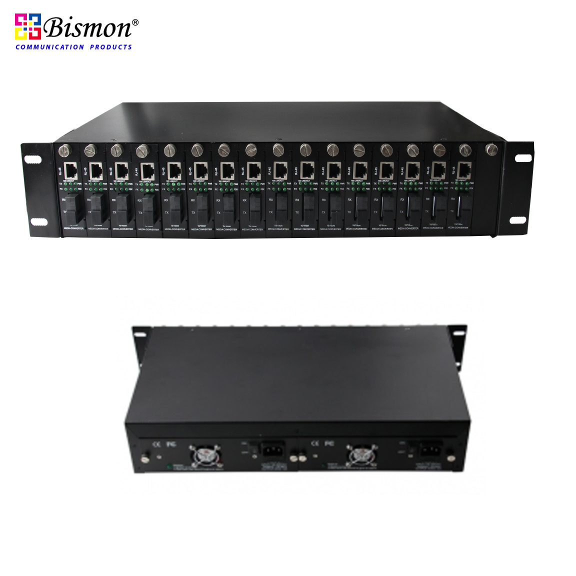 16-Slot-19-Rack-Chassis-Media-Converter-Double-Power-Supply