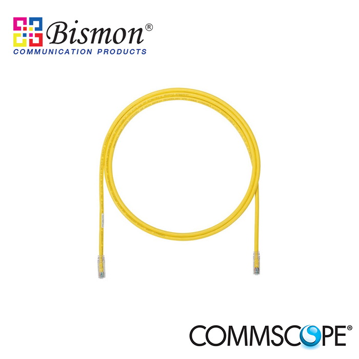 Commscope-UTP-Patch-Cord-Cat-5E-SL-boot-Yellow-10ft-3m