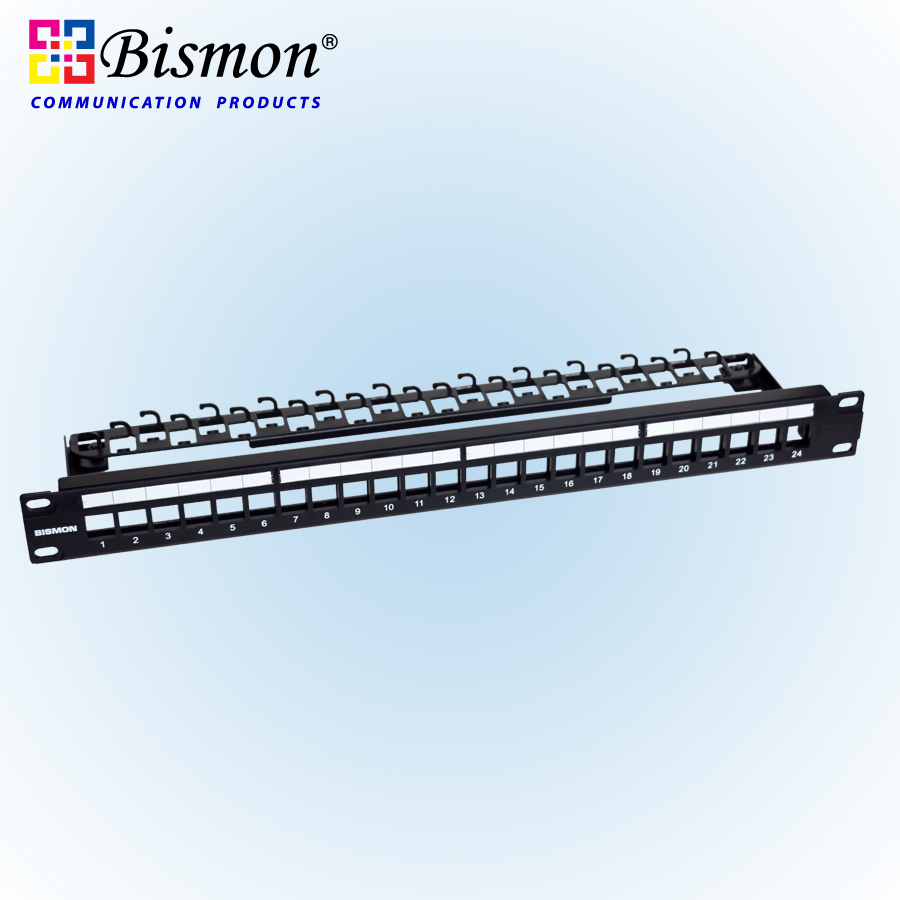 All Products Bismon Rj45 Patch Panel Wiring Iron Fram Only For 24 Port Keystone Jack Cat5e Cat6
