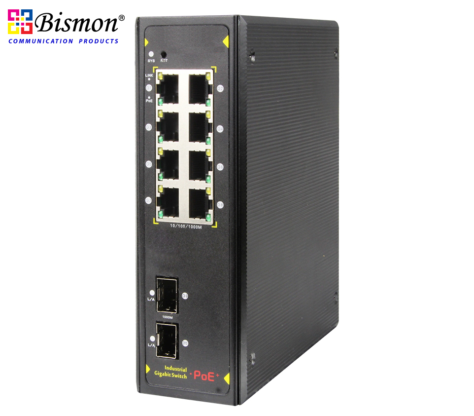 8xRJ45-Ports-10-100-1000Mbps-PoE-Industrial-Switch-2-SFP-Slot