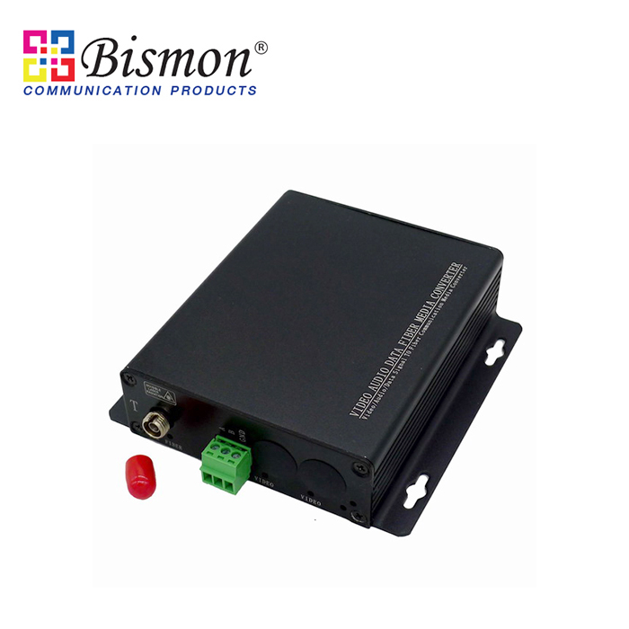 1-CH-Audio-balanced-Converter-Single-fiber-20KM-SM-FC-Connector