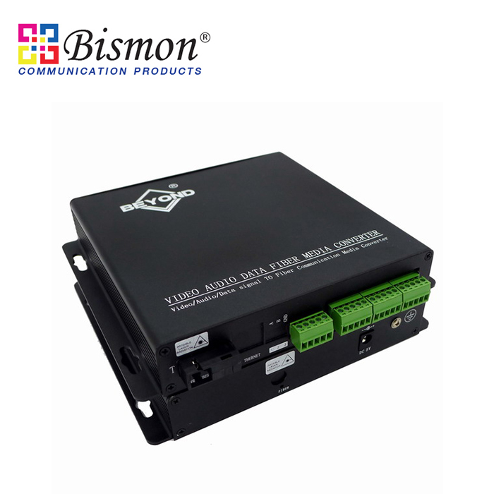 8-CH-Audio-balanced-Converter-Single-fiber-20KM-SM-SC-Connector