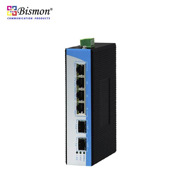 4 ports Gigabit PoE 25W, 2SFP slot/2RJ45 combo Industrial