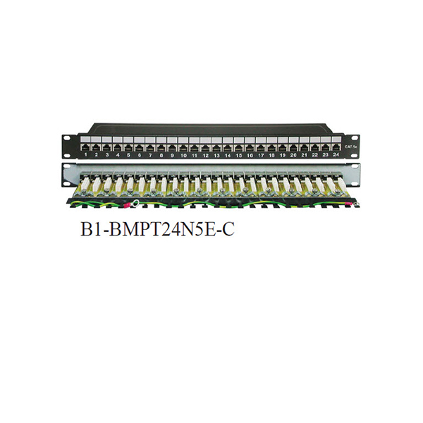 Patch-Panel-24-Port-Cat-5E-Shielded-STP-PCB-1U