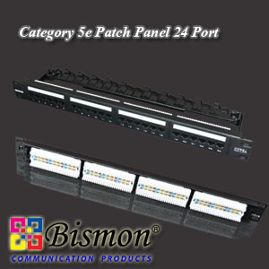 24 Port Cat.5e Patch Panel RJ45 with Dust Cover