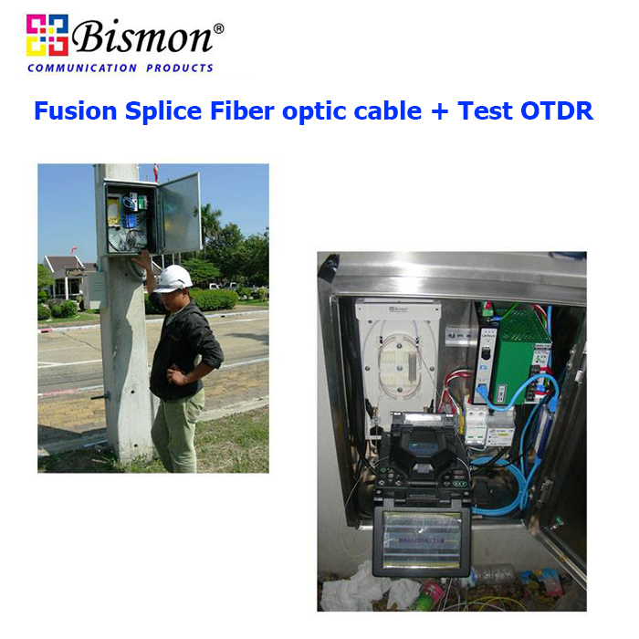 Fusion Splice Fiber optic 17 Core + Test OTDR