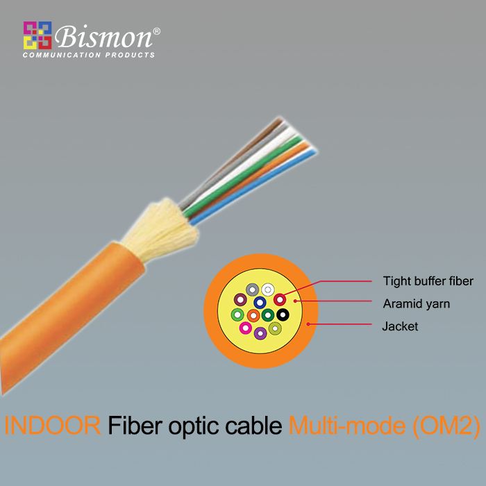 - Indoor Fiber optic cable Multi-mode LSZH (OM2)