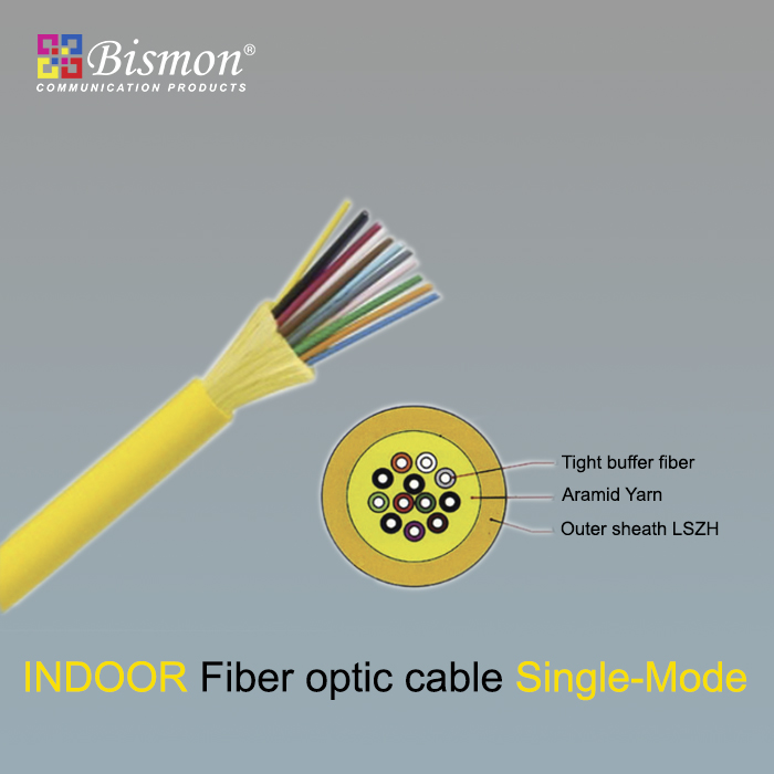 - Indoor Fiber optic cable Single-Mode LSZH (OS2)