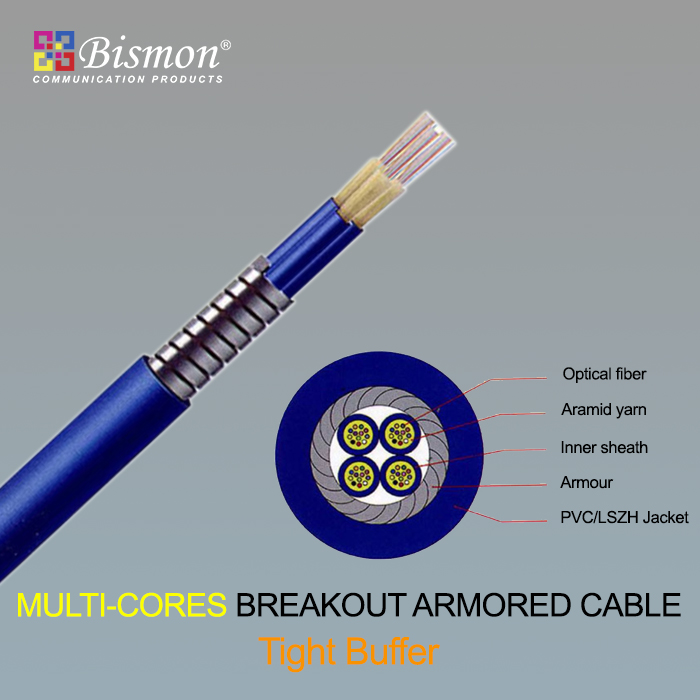 - Multi-cores Breakout Armored Cable-Tight Buffer