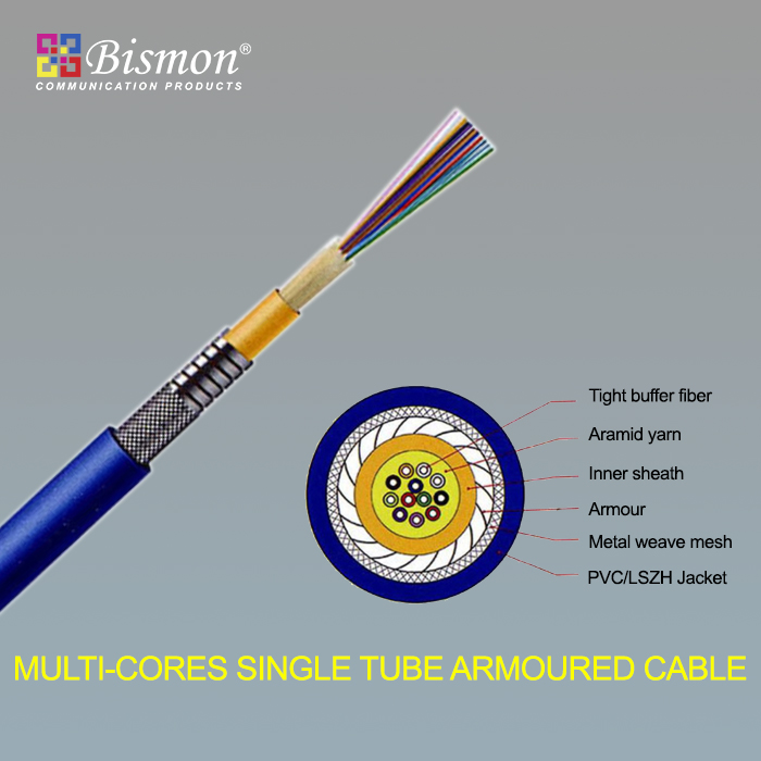 - Multi-cores Single tube Armoured Cable