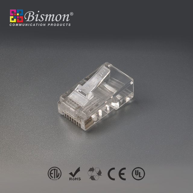 Cat-5e-Unshielded-8P8C-50u-plug-RJ45-ตัวผู้