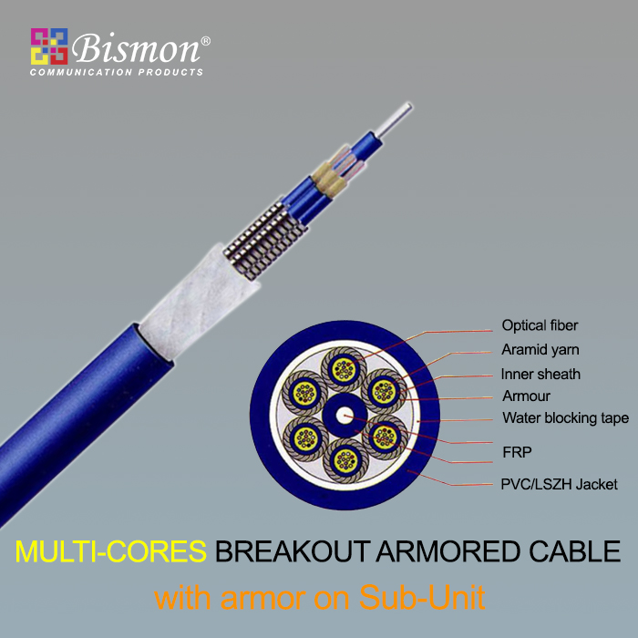 - Multi-cores Breakout Armored Cable-armor on sub-unit