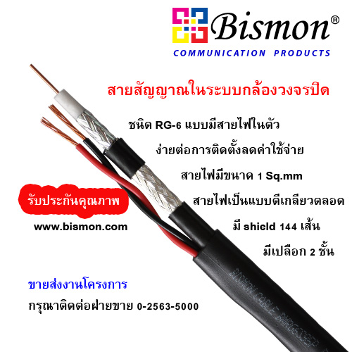 BISMON-RG-6-U-S-95-with-2-Power-Cord-CCTV-AL-Coaxial-Cable