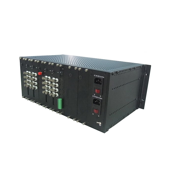 - 2U, 4U Chassis for card style Video Multiplexer