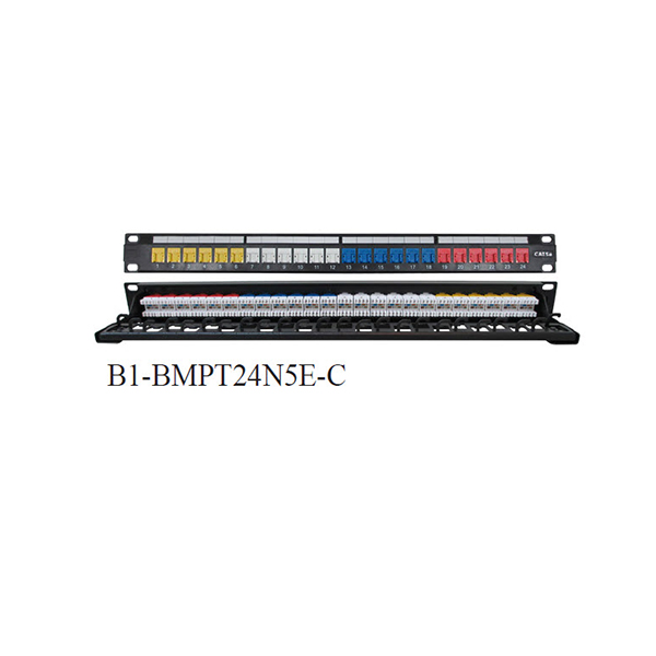 Patch-panel-24-Port-Cat-5E-with-Dust-Cover-Color