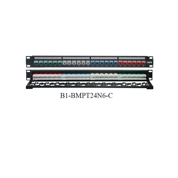 Patch-Panel-24-Port-Cat-6-RJ45-with-Dust-Cover-Color