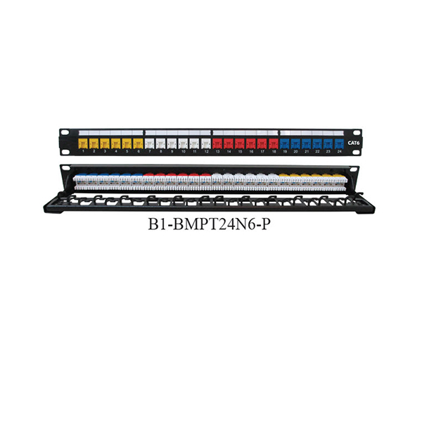 Patch-Panel-24-Port-Cat-6-with-Push-Dust-Cover-Color