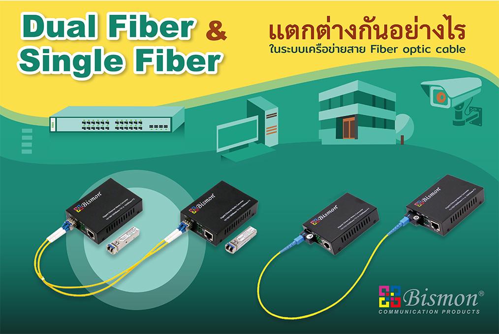 Dual Fiber และ Single Fiber แตกต่างกันอย่างไร ในการเลือกใช้งานอุปกรณ์สำหรับข่ายสาย Fiber optic cable