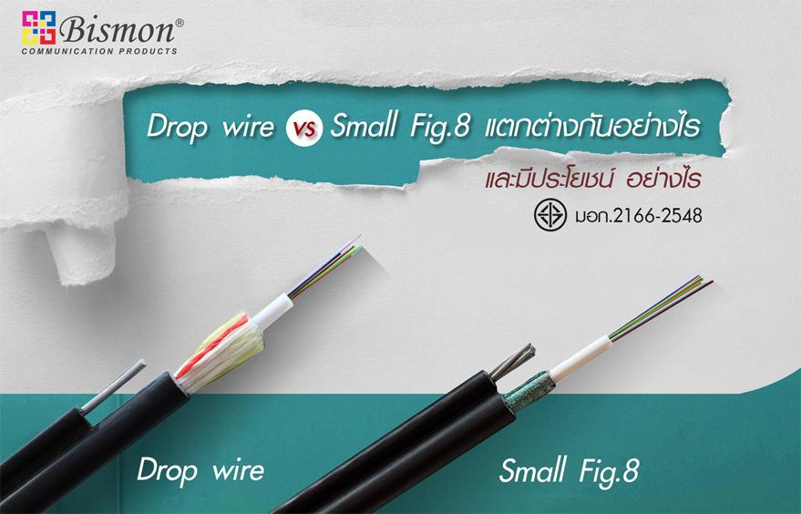 Drop wire VS Small fig.8 fiber optic แตกต่างกันอย่างไร และมีประโยชน์อย่างไร