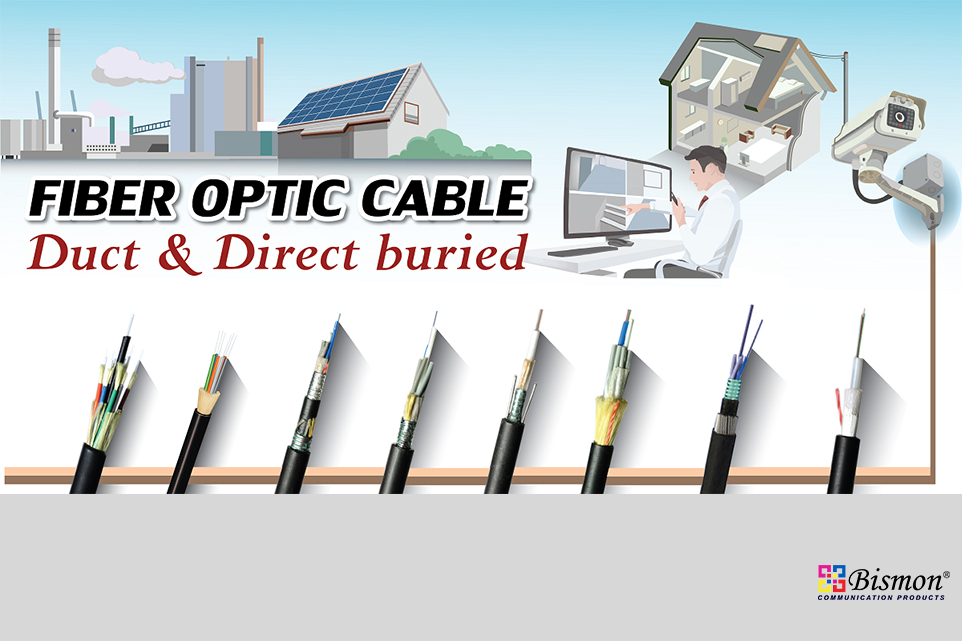 Fiber optic cable for duct and direct buried type