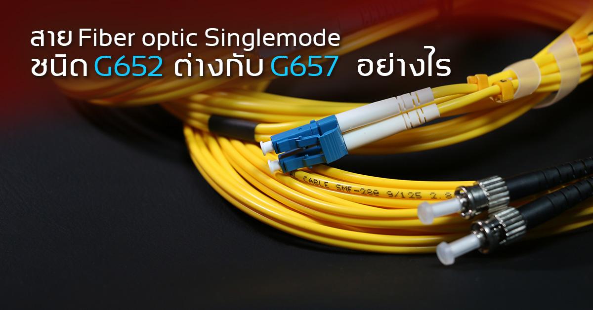 สาย Fiber optic cable Single-mode ชนิด G.652D ต่างกับ G.657A อย่างไร